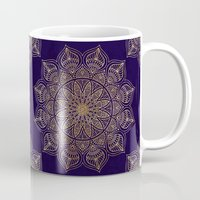islam Mugs featuring Gold Mandala by Mantra Mandala