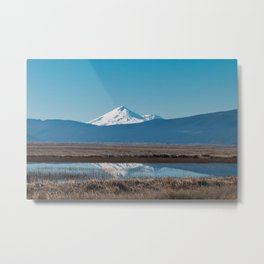 Mt Shasta Reflection Metal Print