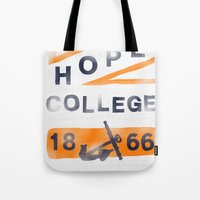college Tote Bags featuring Hope College by Joey Carty