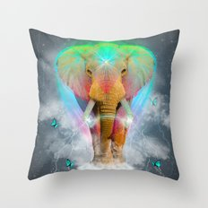 Nothing Is So Strong As Gentleness (Neon Elephant v. 2) Throw Pillow