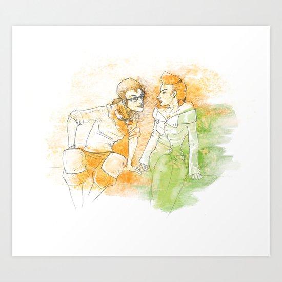 A Little Bit Of Flirting Art Print