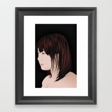 japan girl Framed Art Print