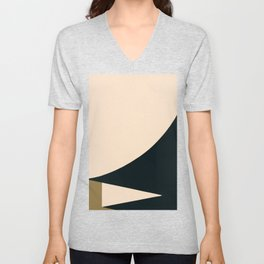 Minimal abstract art Unisex V-Neck