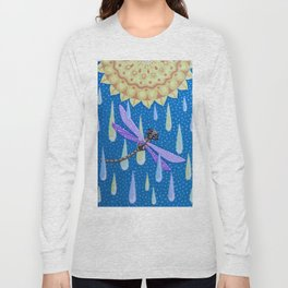Dragonfly Dance in the Rain Long Sleeve T-shirt