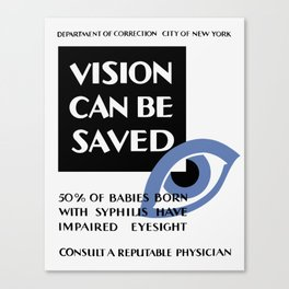 Vision Can Be Saved -- WPA Canvas Print