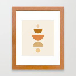 Abstraction_Geometric_Shape_Moon_Sun_Minimalism_001D Framed Art Print
