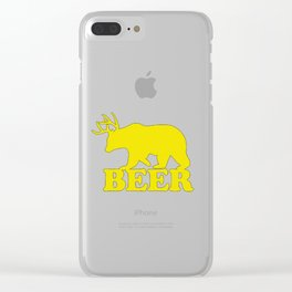 """Funny """"Beer"""" Design T-Shirt Clear iPhone Case"""