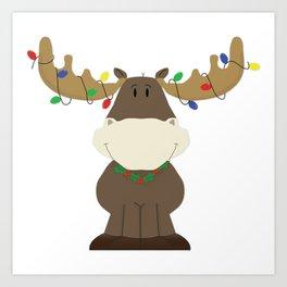 Merry Christmoose! Art Print