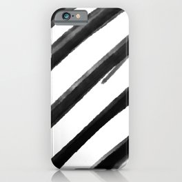 Diagonal stripes  iPhone Case