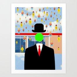 Magritte illustration Art Print
