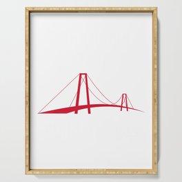 Anti Trump graphic Quote - Don't build Walls, Build Bridges Serving Tray
