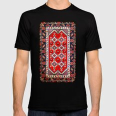 Carpet Pattern Black SMALL Mens Fitted Tee