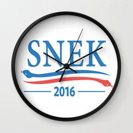 Snek for President 2016 Wall Clock