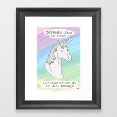 Unicorn, Penis horn Framed Art Print