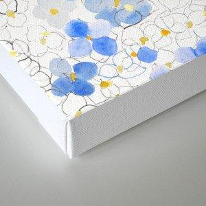 blue abstract hydrangea pattern Canvas Print
