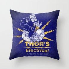 Thor - Thor's Electrical Throw Pillow