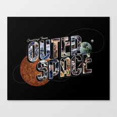 Greetings From Outer Space (color 01) Canvas Print