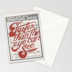 Faster than the eye can see Stationery Cards