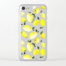 Lemons Clear iPhone Case