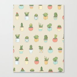 Cute Succulents Canvas Print