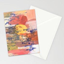 paisaje abstracto Stationery Cards