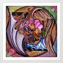 Blue Devil Peruvian Angel Art Print