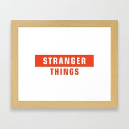 supreme stranger Framed Art Print