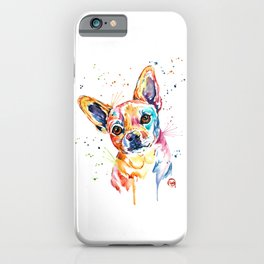 Chihuahua - Tucker - Colorful Watercolor Pet Portrait Painting iPhone Case