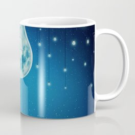 bulb moon night Coffee Mug