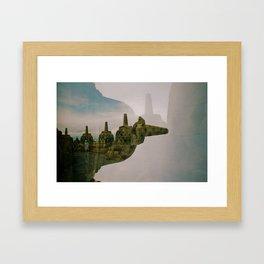 Double EXposure Framed Art Print