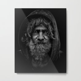 homeless man people 5 Metal Print
