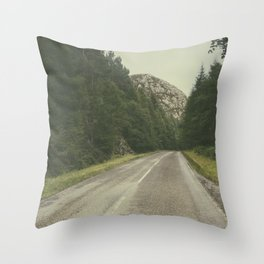 A Road in the Wilderness II Throw Pillow