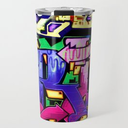 Pink and Purple Wildstyle Tag Travel Mug