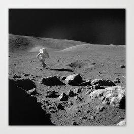 Apollo 17 - Astronaut Running Canvas Print