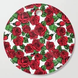 Red roses pattern Cutting Board