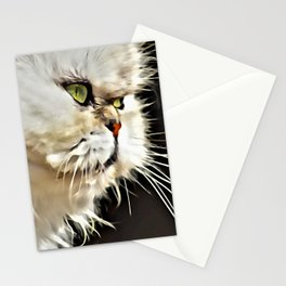 White Persian Cat Stationery Cards