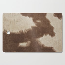 Cowhide Brown and White Cutting Board