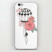 hot air balloon iPhone & iPod Skins featuring Hot Air Balloon Ride  by holmeg_art