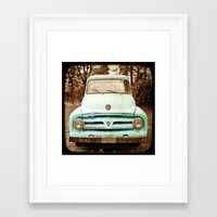 truck Framed Art Prints featuring truck by Carl Christensen