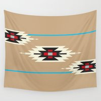 navajo Wall Tapestries featuring Navajo Path by TheCameronCash Designs