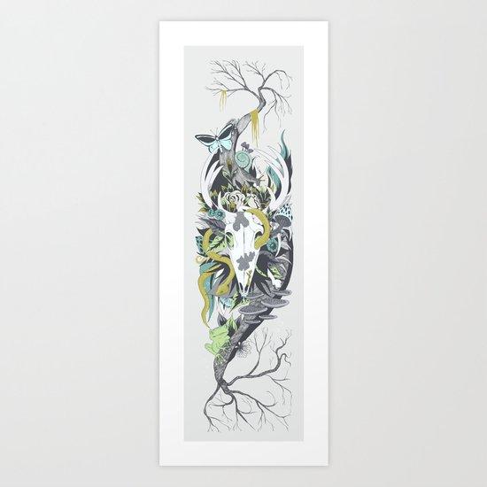Nature Thrives recolour Art Print