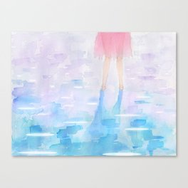 Pink and Blue Season Canvas Print