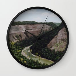 Letchworth Gorge in Letchworth State Park NY Wall Clock