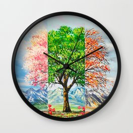 Three moods in nature Wall Clock