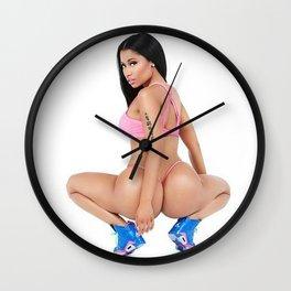 Blue Butt. Wall Clock
