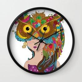 Strigidae - Masquerade Collection Wall Clock