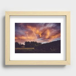 Rainbow Sunset Recessed Framed Print