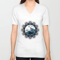 the whale V-neck T-shirts featuring whale by gazonula