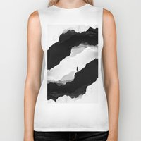 mountains Biker Tanks featuring White Isolation by Stoian Hitrov - Sto