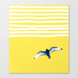 Soaring - sunshine stripe sky Canvas Print